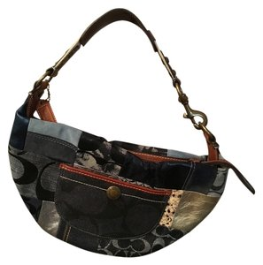 Coach Blue Patchwork Hobo Bag
