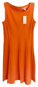 Banana Republic short dress Orange Flare Cut-out on Tradesy