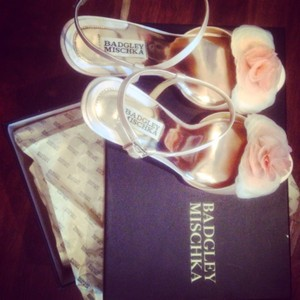 Badgley Mischka Blush Wedges Size US 8.5 Regular (M, B)