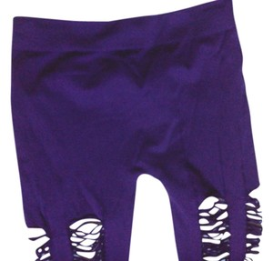 SOHO LADY Distressed PURPLE Leggings