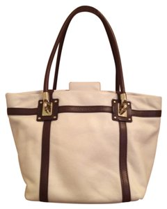 Kate Spade Tote in Off White/Brown