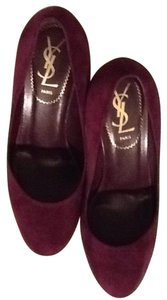 Saint Laurent Purple Suede Pumps