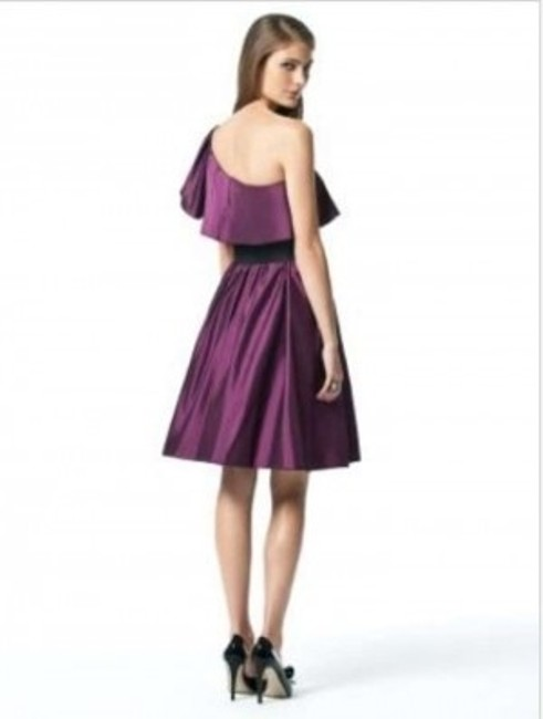 Dessy Length One Shoulder Satin Dress