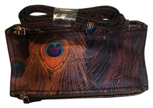 Givenchy Bold Chic Luxe Print Peacock Feather It Girl Cool Girl Downtown Cross Body Bag