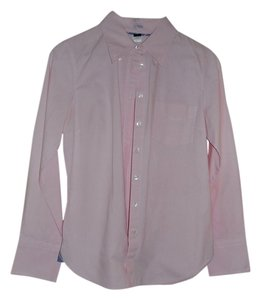 J.Crew Blouse Button Down Shirt Pink