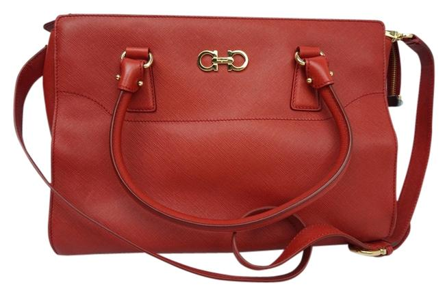Item - Bag Red Leather Tote