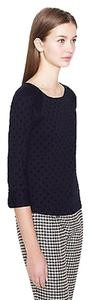 J.Crew Top Black - Polka dot knit