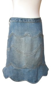 Marc Jacobs Fit And Flare Mini Skirt Medium Wash Denim