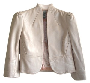 Laundry by Shelli Segal Leather pale pink Leather Jacket