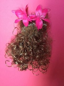 Claire's Blondette Hair Clip with Pink Flowers
