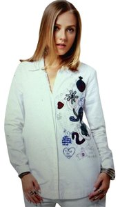 Desigual Embellished Button Down Shirt white