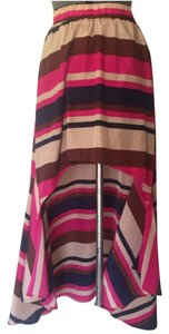 Eve Couture Skirt Navy Blue, Pink, Tan