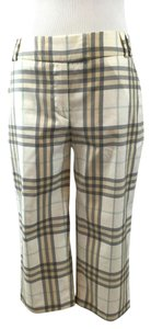 Burberry London Rare Classic Check Capri/Cropped Pants Beige