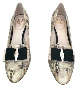 Vince Camuto Velvet Bow Ivory Pumps