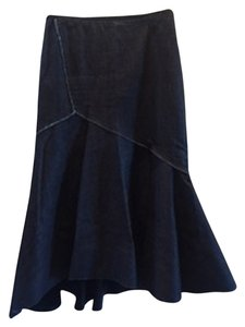Donna Karan Skirt Dark Denim