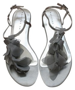 Martinez Valero Rhinestone New Silver Sandals