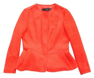 Zara Peplum Wool Wool Wool bright red Jacket