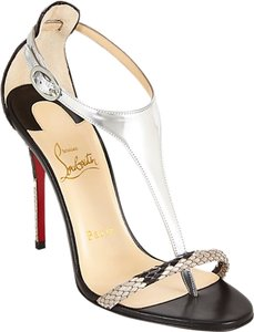 Christian Louboutin Python Evening Silver Formal