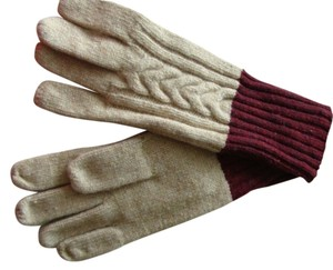 Brooks Brothers NWT Cabled Wool Blend Gloves