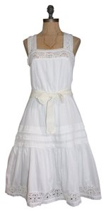 Mango short dress WHITE Mng Made In Morocco on Tradesy