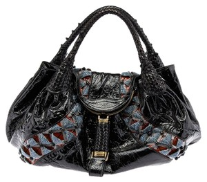 Fendi Limited Edition Spy Beaded Satchel in Black