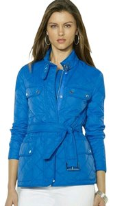 Ralph Lauren Quilted Quilted Diamond Quilt Cobalt Blue Jacket