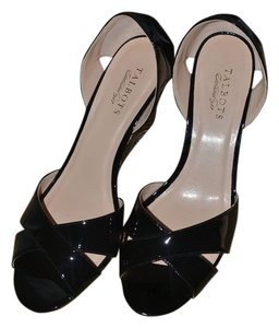 Talbots Black - Heel Black and White Wedges