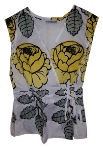 markimekko Top Yellow, white, mint green