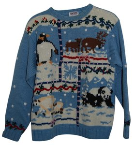 Skyr Vintage Ugly Holiday Chrsitmas Hanukkah Sweater