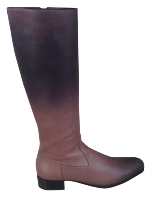 Item - Gradient Grey Black & Taupe Leather Boots/Booties Size US 10 Regular (M, B)
