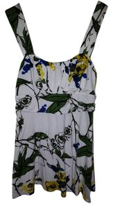 Weston Wear Top white, yellow, blue green floral