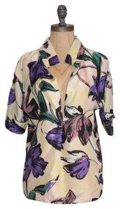 Marni Floral Silk Italy Italy Sz 40 Usa Sz M Top MULTI COLOR