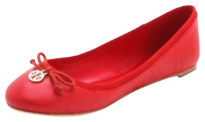 Tory Burch Flame Red Flats