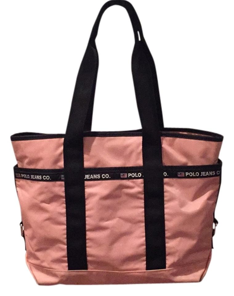 a5b7c2ad92c7 Polo Ralph Lauren Pink and Black Nylon Weekend Travel Bag - Tradesy