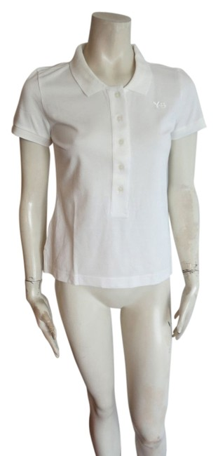 Item - White New Y-3 Women Polo Shirt S/M Blouse Size 6 (S)
