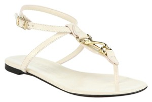 Burberry White Leather cream Sandals