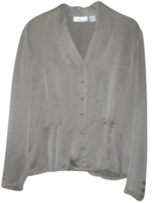 Preload https://item3.tradesy.com/images/dana-buchman-taupe-fitted-silk-with-covered-buttons-blouse-size-16-xl-plus-0x-12527-0-0.jpg?width=400&height=650
