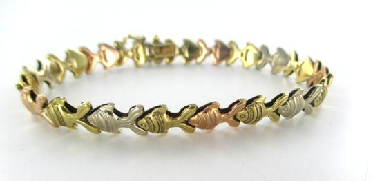 Other 14KT Solid Yellow White Rose Gold Bracelet with Fish design Made in Italy