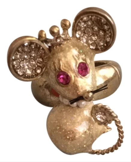 Betsey Johnson Betsey Johnson Gold Mouse Ring
