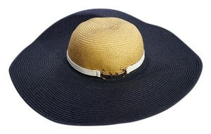 Eugenia Kim Genie by Eugenia Kim Loire Navy Straw Floppy Sunhat