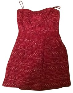 BCBGeneration short dress Red and white on Tradesy