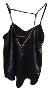 Angie Sequin Top Black and gold