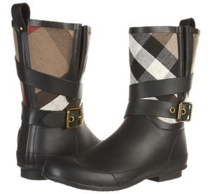 Burberry Rain Bots Rain Boot black Boots