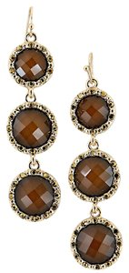 Brown Crystal Drop Earrings