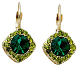 Other Green Crystal Earrings French lever backs