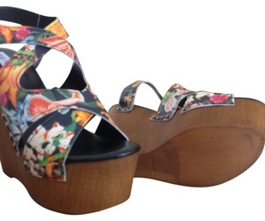 Steve Madden Sandals Wedge Multi colored Wedges