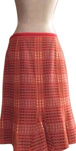 Etcetera Size 10 Wool Skirt Burnt Orange and Tan