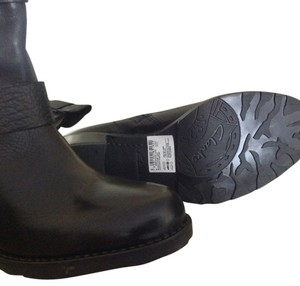 Clarks Leather Moto Zip Black Boots