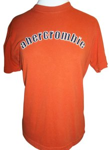 Abercrombie & Fitch Cotton Short Sleeve Medium Knit T Shirt Burnt Orange