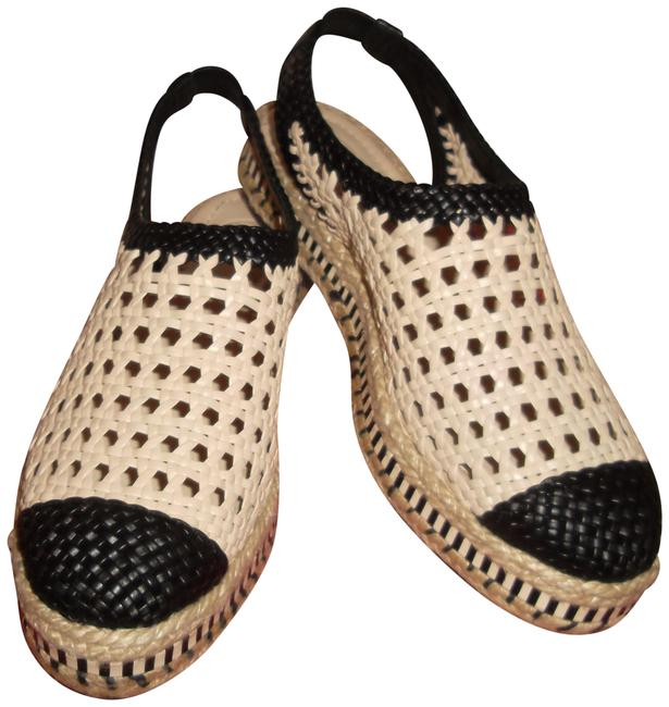 Item - Black/Beige Dandy Woven Esspadrille Flats Size US 7.5 Regular (M, B)
